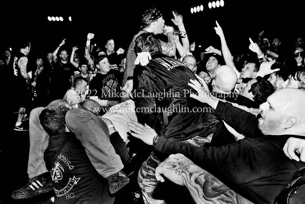 Saturday, March 31, 2012. Asbury Park, New Jersey..Agnostic Front perform at Asbury Lanes in Asbury Park, New Jersey..©2012 Mike McLaughlin / www.mikemclaughlin.com