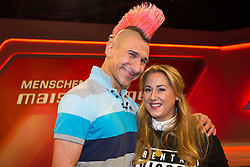 10.03.2015, WDR Studios, Stuttgart, GER, Menschen bei Maischberger, die Vorurteilsfalle gute Muslime boeser Islam, im Bild Andreas Thiel (Kabarettist) und Idil Baydar (Comedian) // during the television broadcast People and Politics on the topic of good Muslims wicked Islam at WDR Studios in Stuttgart, Germany on 2015/03/10. EXPA Pictures &copy; 2015, PhotoCredit: EXPA/ Eibner-Pressefoto/ Schueler<br /> <br /> *****ATTENTION - OUT of GER*****