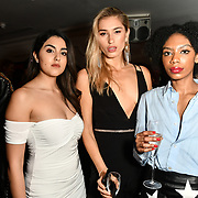 Claudia Sowaha,Lilly Douse and Tonique  Campbell attend Nina Naustdal catwalk show SS19/20 collection by The London School of Beauty & Make-up at Bagatelle on 26 Feb 2019, London, UK.