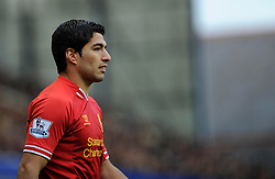 Liverpool's Luis Suarez - Photo mandatory by-line: Dougie Allward/JMP - Tel: Mobile: 07966 386802 23/11/2013 - SPORT - Football - Liverpool - Merseyside derby - Goodison Park - Everton v Liverpool - Barclays Premier League
