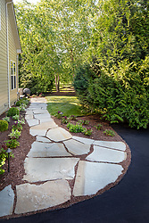19595 Aberlour rear exterior landscaping side path