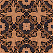 Photographic abstract computer art series illusion of Art Deco Bronze Ironwork. <br /> <br /> Two or more layers used to enhance, alter, manipulate the image, creating an abstract surrealistic mirrored symmetry.
