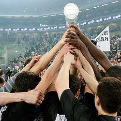 20110421: SLO, Basketball - Final 4 of NLB league, finals, KK Union Olimpija vs KK Partizan Beograd