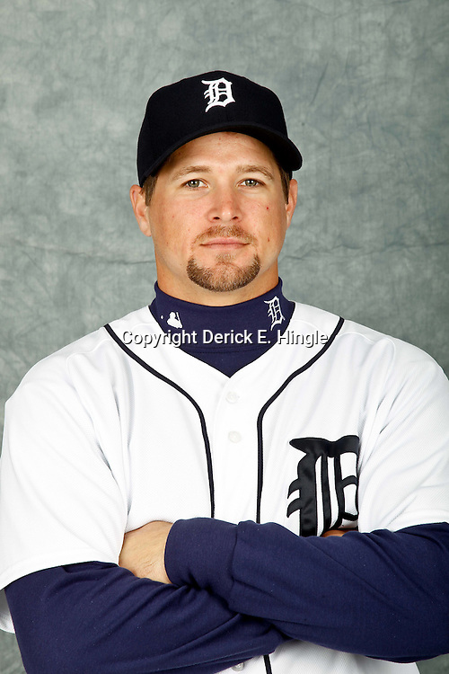 February 28, 2012; Lakeland, FL, USA; Detroit Tigers right fielder Jerad Head (72) poses for photo day in the rec room at the Detroit Tigers Headquarters.  Mandatory Credit: Derick E. Hingle-US PRESSWIRE