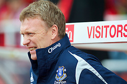 STOKE, ENGLAND - Saturday, May 1, 2010: Everton's manager David Moyes before the Premiership match against Stoke City at Britannia Stadium. (Photo by David Rawcliffe/Propaganda)