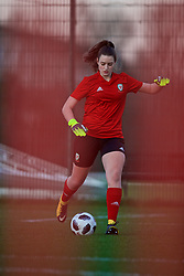 CARDIFF, WALES - Wednesday, January 16, 2019: Wales' goalkeeper Poppy Soper during a training session at Dragon Park ahead of the International Friendly game against Italy. (Pic by David Rawcliffe/Propaganda)