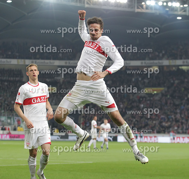 13.04.2012, Mercedes Benz Arena, Stuttgart, GER, 1. FBL, VfB Stuttgart vs SV Werder Bremen, 31. Spieltag, im Bild Martin HARNIK (VfB Stuttgart) jubelt nach seinem Treffer zum 3:1 // during the German Bundesliga Match, 31th Round between VfB Stuttgart and SV Werder Bremen at the Mercedes Benz Arena. Stuttgart, Germany on 2012/04/13. EXPA Pictures © 2012, PhotoCredit: EXPA/ Eibner/ Eckhard Eibner    ATTENTION - OUT OF GER *****