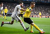Real Madrid's Daniel Carvajal and Borussia Dortmund Marco Reus during the UEFA Champions League match between Real Madrid and Borussia Dortmund at Santiago Bernabeu Stadium in Madrid, Spain. December 07, 2016. (ALTERPHOTOS/BorjaB.Hojas)