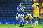 GOAL Ian Henderson celebrates his second goal 4-0 during the The FA Cup match between Rochdale and Bromley at Spotland, Rochdale, England on 4 November 2017. Photo by Daniel Youngs.