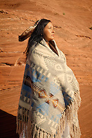 Modern traditional Navajo woman.<br />