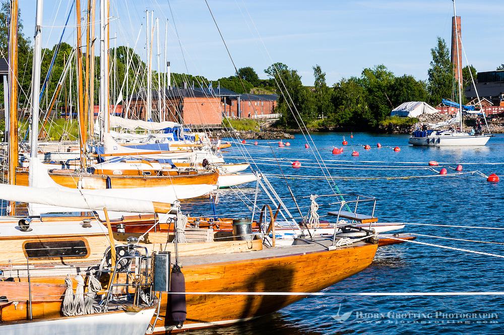 Finland, Helsinki. Marina on Suomenlinna.