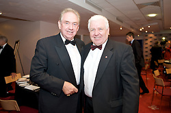 CARDIFF, WALES - Tuesday, October 7, 2008: Wales' travel consultant Tony Clemmo and FAW Council member xxxx at the Brains Beer Wales Football Awards at the Millennium Stadium. (Photo by David Rawcliffe/Propaganda)