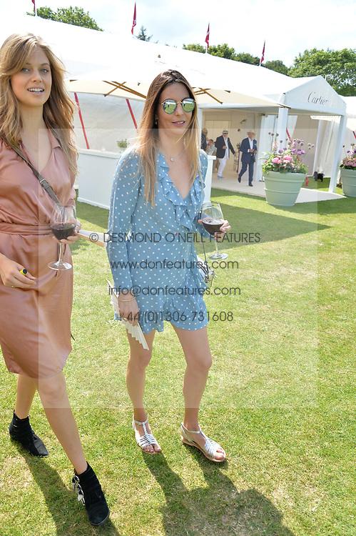 Zara Simon at Cartier Queen's Cup Polo, Guard's Polo Club, Berkshire, England. 18 June 2017.