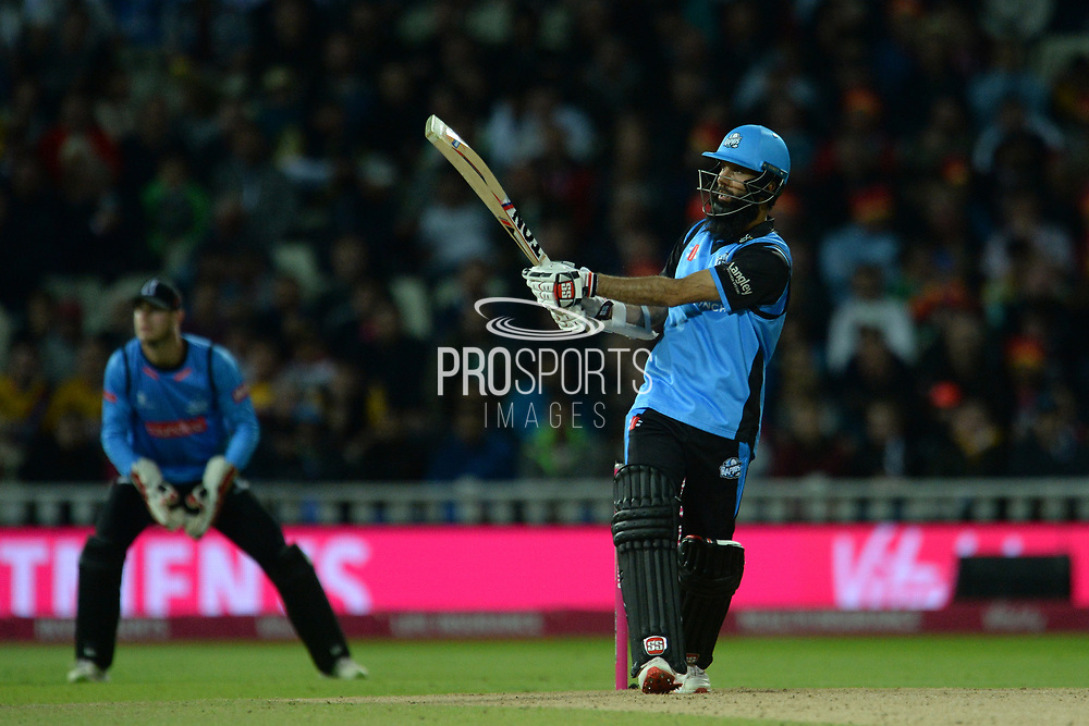 Moeen Ali of Worcestershire Rapids batting during the final of the Vitality T20 Finals Day 2018 match between Worcestershire Rapids and Sussex Sharks at Edgbaston, Birmingham, United Kingdom on 15 September 2018.
