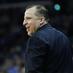 February 12, 2011; New Orleans, LA, USA; Chicago Bulls head coach Tom Thibodeau against the New Orleans Hornets during the first quarter at the New Orleans Arena.   Mandatory Credit: Derick E. Hingle