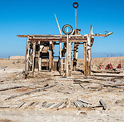 Abandoned and Rotted Structure on Bombay Beach