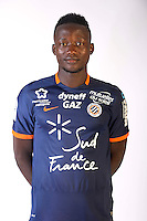 Casimir Ninga during the photocall of Montpellier for new season of Ligue 1 on September 27th 2016 in Montpellier<br /> Photo : Mhsc / Icon Sport