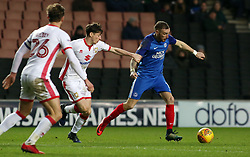 Marcus Maddison of Peterborough United takes on Conor McGrandles of Milton Keynes Dons - Mandatory by-line: Joe Dent/JMP - 30/12/2017 - FOOTBALL - Stadium MK - Milton Keynes, England - Milton Keynes Dons v Peterborough United - Sky Bet League One