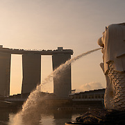 Singapore Merlion on Marina Bay