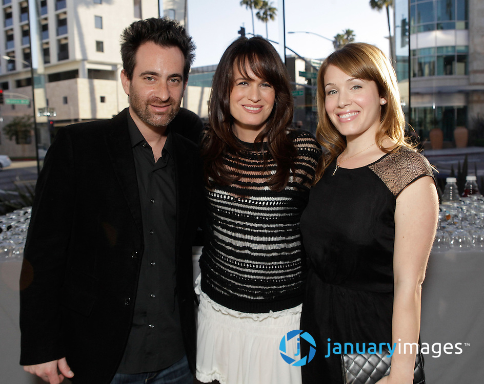 """BEVERLY HILLS, CA - JUNE 06:  Composer Alec Puro, Elizabeth Reaser and Marla Sokoloff attend a Fox Searchlight screening Of """"The Art Of Getting By"""" at Clarity Theater on June 6, 2011 in Beverly Hills, California.  (Photo by Todd Williamson/WireImage)"""