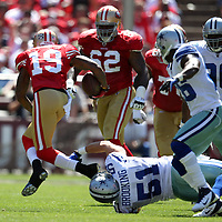 San Francisco 49ers wide receiver Ted Ginn (19) during an NFL football game between the Dallas Cowboys and the San Francisco 49ers at Candlestick Park on Sunday, Sept. 18, 2011 in San Francisco, CA.   (Photo/Alex Menendez)