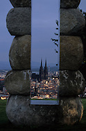 France. massif central. Clermont Ferrand. The cathedral , the old city /  / view from Montjuzet Park    France  /   La cathedrale , la vieille ville vue depuis le parc Montjuzet.  Clermont Ferrand  France   /  / L005083  /  R20707  /  P114784