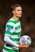 Mikael Lustig (#23) of Celtic takes a throw in during the Betfred Cup Final between Celtic and Aberdeen at Celtic Park, Glasgow, Scotland on 2 December 2018.
