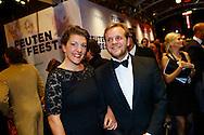 AMSTERDAM - In theater Tuschinski is de Nederlandse film 'Feuten het Feestje' in premiere gegaan. Met hier op de foto  Thijs Steenkamp met ???. FOTO LEVIN DEN BOER - PERSFOTO.NU