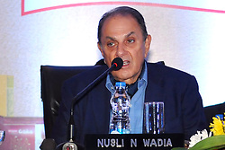 August 7, 2017 - Kolkata, West Bengal, India - Nusli N Wadia gives speech during the Britannia industries ltd Annual General Meeting in Kolkata. Chairman, Britannia industries ltd, Nusli N Wadia and Managing Director, Varun Berry during 98th Annual General Meeting of Britannia industries ltd in Kolkata on Aug 7, 2017. (Credit Image: © Saikat Paul/Pacific Press via ZUMA Wire)