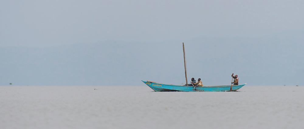 Local fishing boat at Lake Naivasha, Kenya.