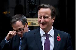 © London News Pictures. 31/10/2012. London, UK.  British Prime Minister DAVID CAMERON leaving number 10 Downing Street on October 31, 2012.  Photo credit: Ben Cawthra/LNP