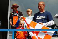 A young Luton Town fan waves a flag before the Skrill Conference Premier match at Kenilworth Road, Luton<br /> Picture by David Horn/Focus Images Ltd +44 7545 970036<br /> 21/04/2014