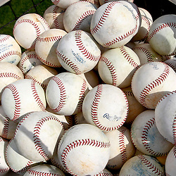 Feb 23, 2013; Lakeland, FL, USA; A detail of baseballs in the bin before a spring training game against the Toronto Blue Jays at Joker Marchant Stadium. Mandatory Credit: Derick E. Hingle-USA TODAY Sports