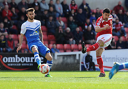 Swindon Town's Massimo Luongo in action during the Sky Bet League One match between Swindon Town and Peterborough United at The County Ground on 11 April 2015 in Swindon, England - Photo mandatory by-line: Paul Knight/JMP - Mobile: 07966 386802 - 11/04/2015 - SPORT - Football - Swindon - The County Ground - Swindon Town v Peterborough United - Sky Bet League One
