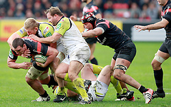 Louis Picamoles attacks for Stade Toulousain. Stade Toulousain v Ospreys, Heineken Cup, Stade Ernest Wallon, Toulouse, France, 8th December 2012.