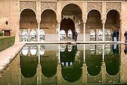 Alhambra, Granada, Andalucia, Spain, Patio de los Leones (Patio of the Lions)