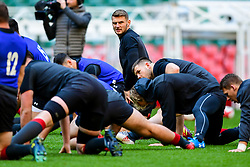Dan Biggar takes part in the training session - Photo mandatory by-line: Ryan Hiscott/JMP - 29/10/2018 - RUGBY - Principality Stadium - Cardiff, Wales - Autumn Series - Wales Rugby Open Training Session