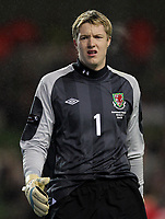 Football - Carling Nations Cup - Republic of Ireland vs. Wales<br />  <br /> Wayne Hennessey of Wales in action during the Republic of Ireland vs. Wales Carling Nations Cup at The Aviva Stadium