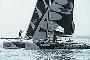 Emirates Team New Zealand,  Day three of the Extreme Sailing Series Regatta at Nice. 4/10/2014