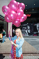 Michaela Hayes, at the opening of HMV Galwayat Edward square. Photo:Andrew Downes