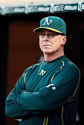 OAKLAND, CA - SEPTEMBER 09:  Bob Melvin #6 of the Oakland Athletics stands in the dugout before the game against the Seattle Mariners at the Oakland Coliseum on September 9, 2016 in Oakland, California. The Seattle Mariners defeated the Oakland Athletics 3-2. (Photo by Jason O. Watson/Getty Images) *** Local Caption *** Bob Melvin