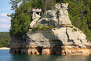 Pictured Rocks National Lake Shore.  Lake Superior, Michigan.  Photo by Mike Roemer