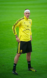 UTRECHT, THE NETHERLANDS - Wednesday, September 29, 2010: Liverpool's Martin Skrtel during a training session at the Stadion Galgenwaard ahead of the UEFA Europa League Group K match against FC Utrecht. (Photo by David Rawcliffe/Propaganda)