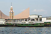 Star Ferry terminal and clock tower Tsim Sha Tsui Hong Kong.