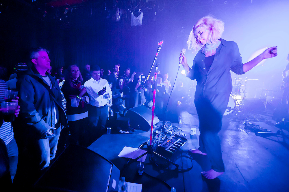 Charlotte Church performing her new EP 'Four' as well as tracks from her EP series so far. The show included extraordinary stage costumes controlled the audience, plus other surprises on the night, all centred around the EP's scientific theme. Riverside Studios, Hammersmith, London, UK, 05 March 2014.  Guy Bell, 07771 786236, guy@gbphotos.com