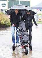 AMSTERDAM - Regen, Amsterdam Golf Show 2015 op Amsterborgh Borchland. COPYRIGHT KOEN SUYK