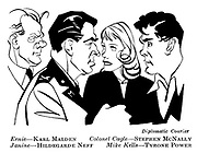 Diplomatic Courier ; Karl Malden , Stephen McNally , Hildegarde Neff and Tyrone Power......