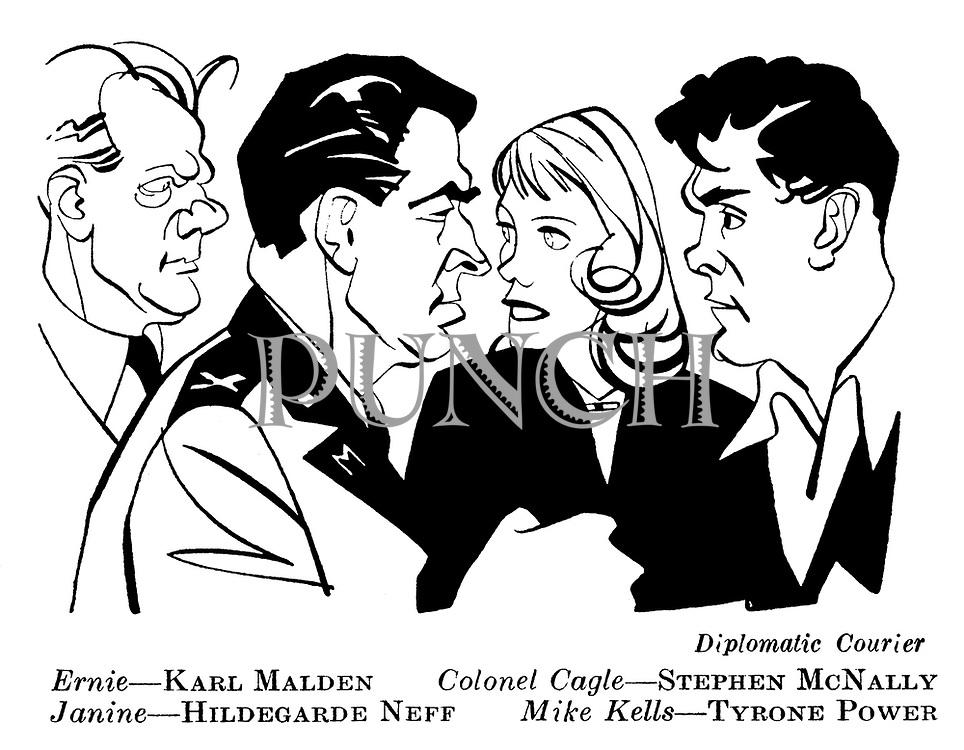 Diplomatic Courier ; Karl Malden , Stephen McNally , Hildegarde Neff and Tyrone Power......