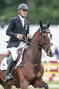 JETSET IV ridden by Andrew Nicholson (New Zealand) during the final jumping event at Bramham International Horse Trials 2016 at  at Bramham Park, Bramham, United Kingdom on 12 June 2016. Photo by Mark P Doherty.