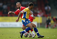 Photo: Rich Eaton.<br /> <br /> Swindon Town v Mansfield Town. Coca Cola League 2. 21/04/2007. Christain Roberts left of Swindon and Simon Brown right of Mansfield